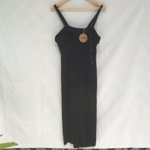 Essue Rowan Culotte Jumpsuit. Black. Medium